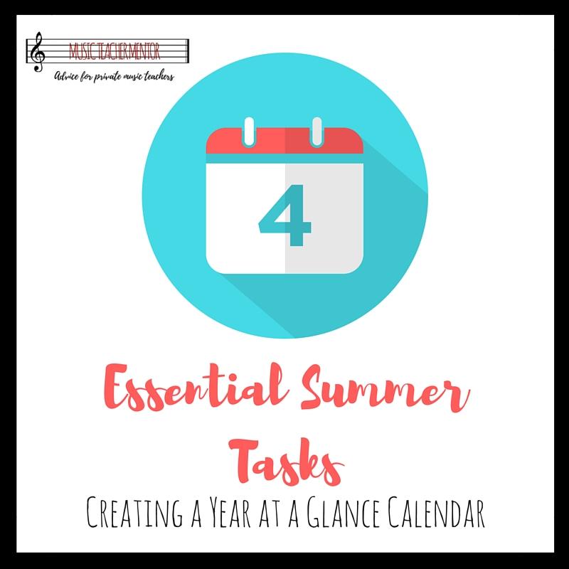 Essential Summer Tasks